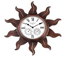 Outdoor Pedestal Clock Thermometer Outdoor Garden Clock Ebay
