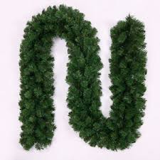2 7m garland pine wreath thick plain decor