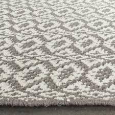 Flat Weave Cotton Area Rugs Safavieh Woven Montauk Ivory Grey Cotton Rug 8 X 10