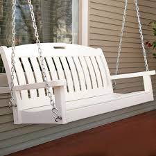 Polywood Patio Furniture by Polywood Nautical 4 Ft Recycled Plastic Porch Swing White
