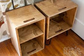 Wooden Crate Nightstand More Like Home Crate Nightstand Plans