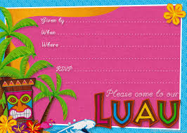 My Birthday Invitation Card Hawaiian Birthday Invitations Kawaiitheo Com