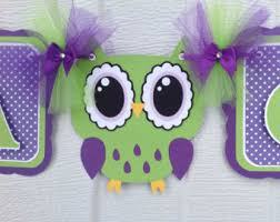 purple owl baby shower decorations purple and green baby shower decorations teamsolli