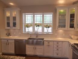 Shaker Style White Kitchen Cabinets White Shaker Style Kitchen Cabinets With Hickory Hardware Studio