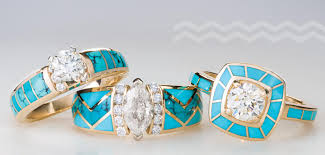turquoise wedding rings santa fe goldworks ǀ local jewelry store on the plaza santa fe