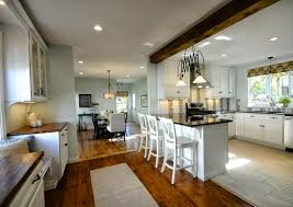 dazzling open plan kitchen design inspiration offer floor to