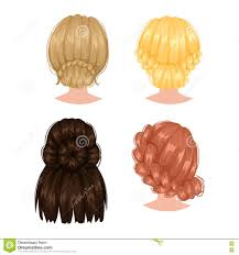 hairstyles back view only vector woman hairstyle back view stock vector illustration of