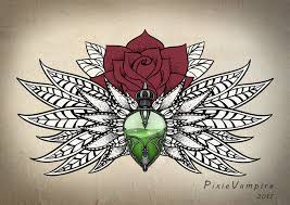 mandala poison bottle rose tattoo stencil by pixie vampire on