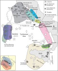 Map Of Sardinia Italy by Magmatism Mantle Evolution And Geodynamics At The Converging