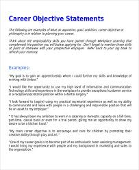 Resume Mission Statement Examples by Resume Goal Statements Jobs Billybullock Us