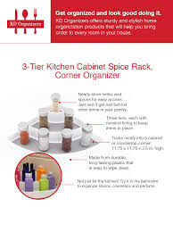 Made To Order Kitchen Cabinets by Amazon Com Kd Organizers 3 Tier Kitchen Cabinet Spice Rack