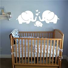 Wall Decals For Baby Nursery Elephant Family With Hearts Wall Decals Baby Nursery Decor