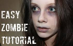 easy zombie makeup tutorial youtube