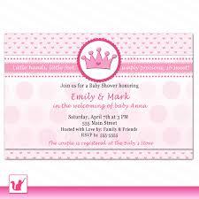 Princess Themed Invitation Card Color Princess Baby Shower Invitations