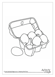 Eggs Colouring Page 2 Egg Colouring Page
