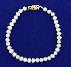pearl bracelet with gold clasp images Vintage akoya pearl bracelet with 14k gold clasp jpg