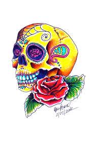 sugar skull tattoo design by brandnewlover on deviantart