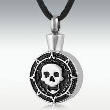 cremation jewlery skull medaglione stainless steel cremation jewelry memorials