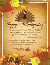 thanksgiving hours casino