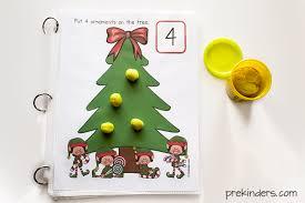 tree play dough math mats prekinders