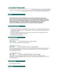 Resume Samples For College Student by Resume Templates For Students