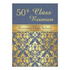 50th high school class reunion invitation 50th class reunion invitations announcements zazzle