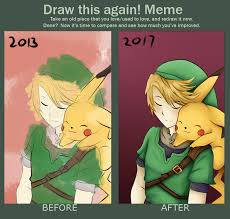 Link Meme - link and pikachu draw this again meme 2017 by mewmewitems on deviantart