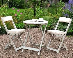 Tesco Bistro Table 3 Piece Wooden Bistro Set With Folding Chairs Wooden Bistro Set