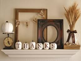 Easy Home Decor Give Thanks Mantel