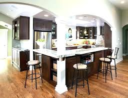 Large Floor L Kitchen Island Post Kitchen Island Wood Posts Wooden Open Floor L