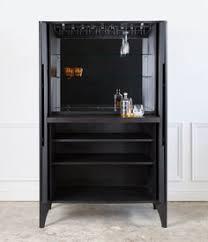 Vanguard Bar Cabinet Italian Bar Cabinet Upholstered In Black Eel Leather Structured