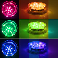 rgb submersible led lights battery powered led accent lights