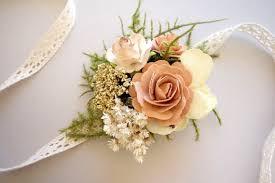 prom wrist corsage blush wrist corsage prom corsage boho wedding rustic wrist