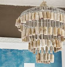 From A Chandelier Make A Chandelier From Wine Corks U2014 Totally Green Crafts