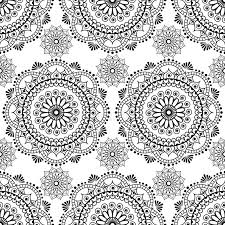 seamless henna pattern mandala mehndi floral lace elements of buta