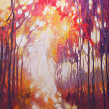 Seeking Painting Saatchi Seeking The Light A Large Abstract Forest Landscape