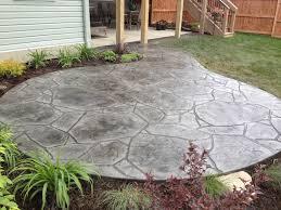 Concrete Backyard Ideas by Arizona Flagstone Stamped Concrete Patio Concrete Pinterest