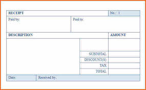 9 blank receipt template budget template letter