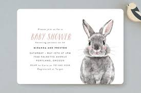 rabbit baby shower baby animal rabbit baby shower invitations by cass minted
