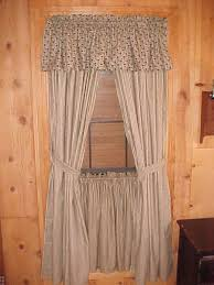 Primitive Swag Curtains Bj S Country Charm Primitive Blue Ticking Tea Stained Swag Curtains