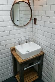 industrial reclaimed wood vanity unit my new bathroom