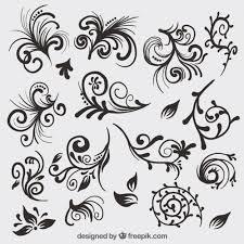 ornamental decoration collection vector premium