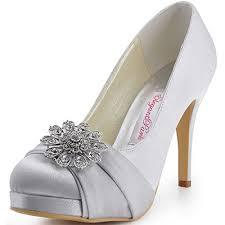 Wedding Shoes Amazon Silver Wedding Shoes For Bride Amazon Com
