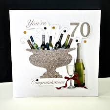 70th Birthday Cards Celebration Bottles 70th Birthday Card Decorque Cards