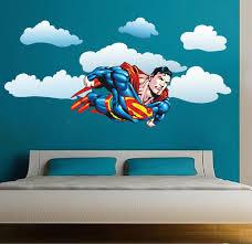 Kids Room Wall Stickers by Superman Flying Wall Decal Superman Bedroom Wall Decal