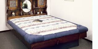 Used Wood Bed Frame For Sale Bed Queen Pine Waterbed Frames Monarch Ii With Lamps Complete
