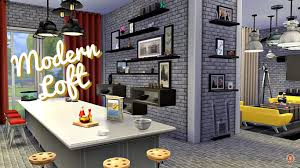 sims 4 room build modern loft one room apartment youtube