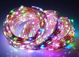 set of multi color led m5 icicle christmas lights white wire fia