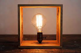 light box light bulbs shadow box edison l in air dried ash