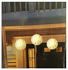 3 pack bright led spheres lights home